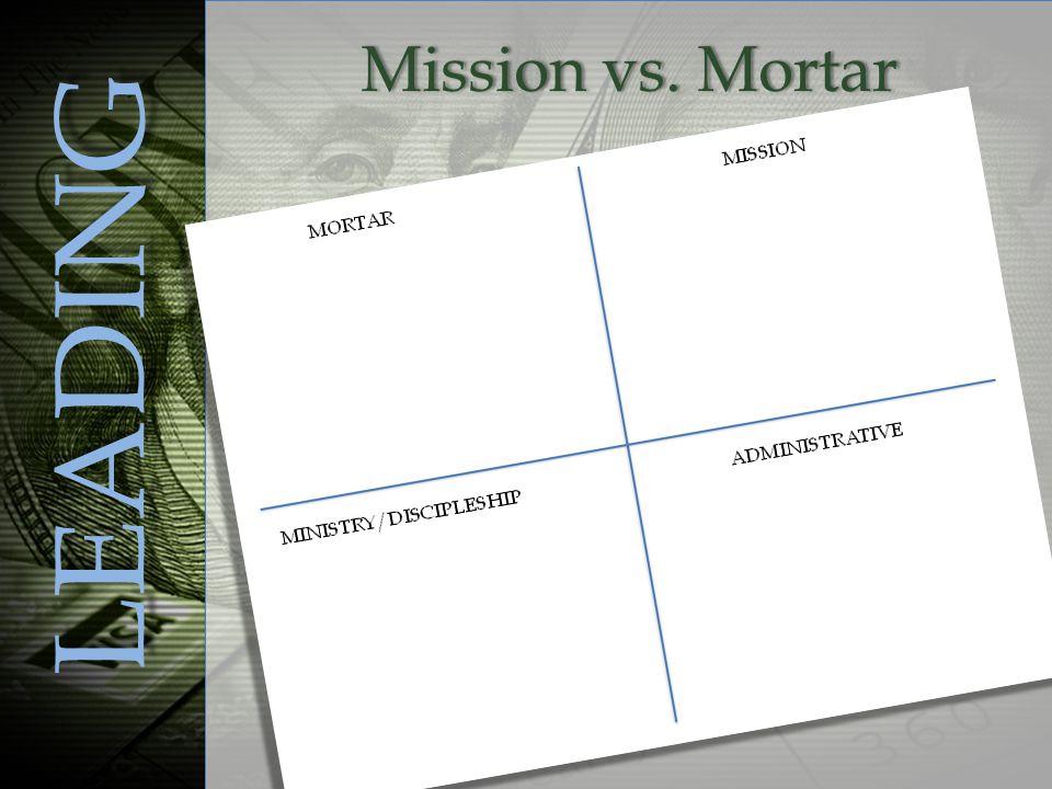 Mission vs. MortarMission vs. Mortar LEADING