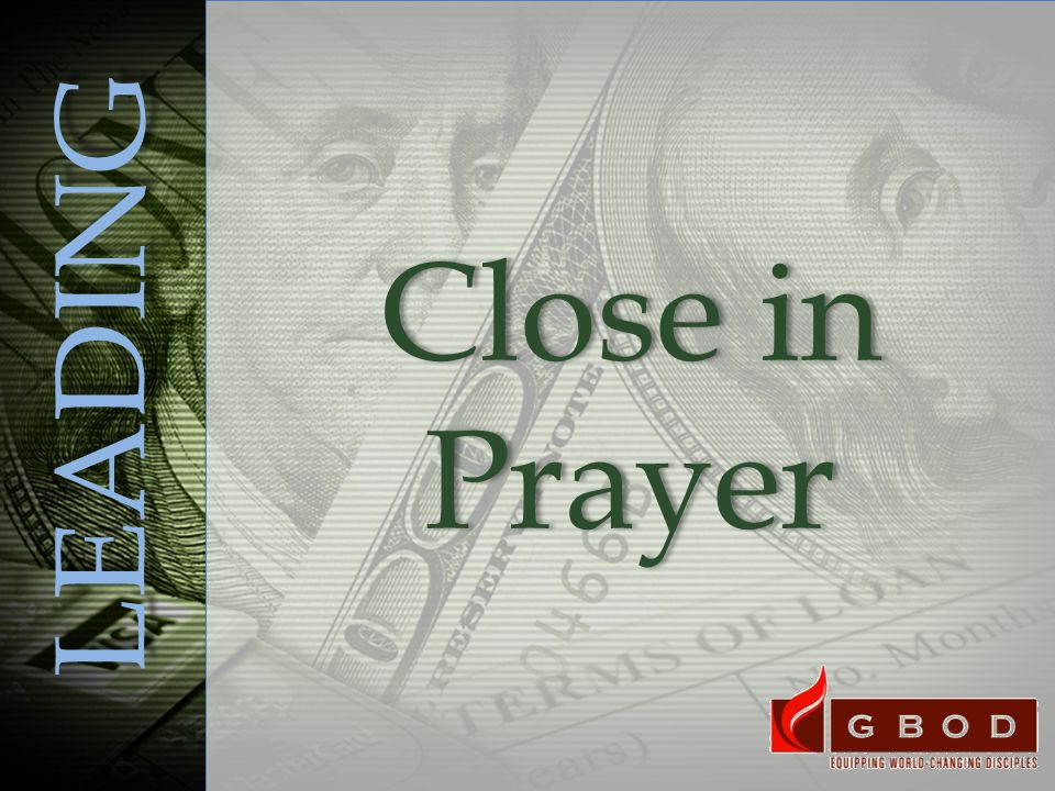 LEADING Close in Prayer