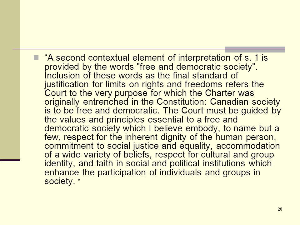 28 A second contextual element of interpretation of s.