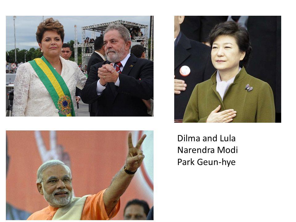 Dilma and Lula Narendra Modi Park Geun-hye