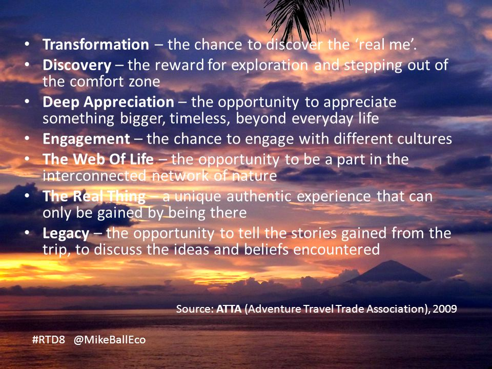 Transformation – the chance to discover the 'real me'.
