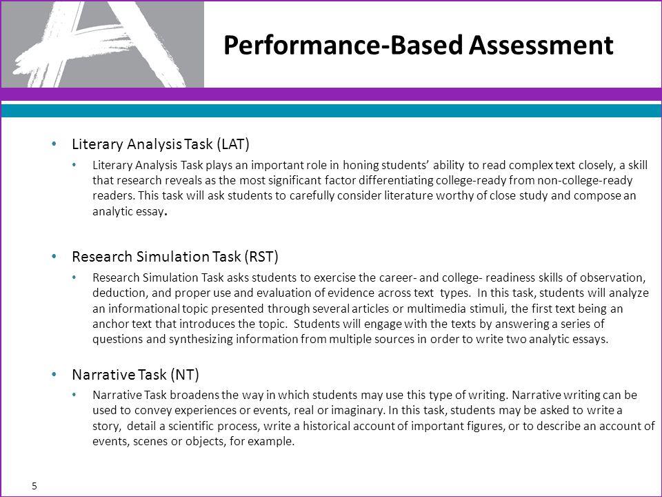 6 Pg 13 Item Guidelines Eligible Item Types for Performance-Based Assessment (PBA): Evidence-Based Selected Response (EBSR) Technology-Enhanced Constructed Response (TECR) Prose-Constructed Response (PCR)
