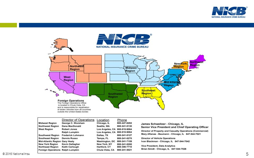 © 2015 National Insurance Crime Bureau 5