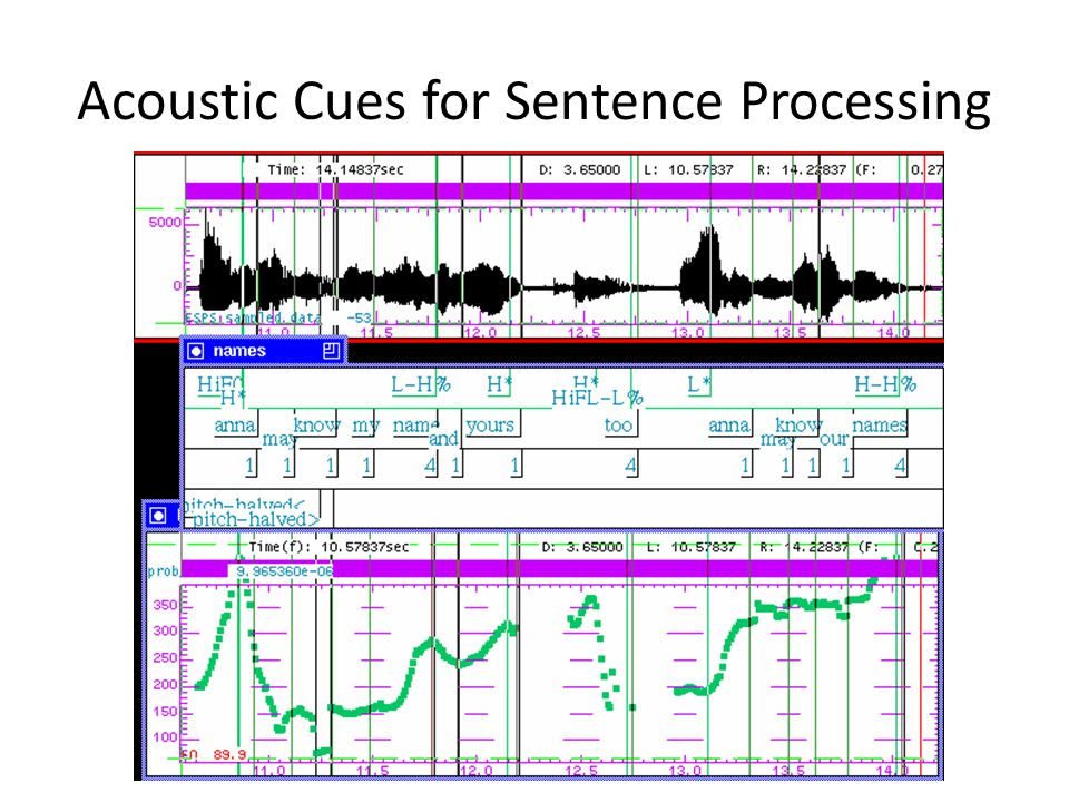 Acoustic Cues for Sentence Processing