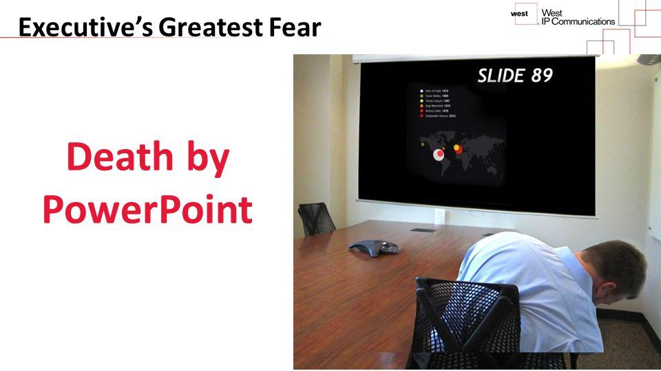 Executive's Greatest Fear Death by PowerPoint