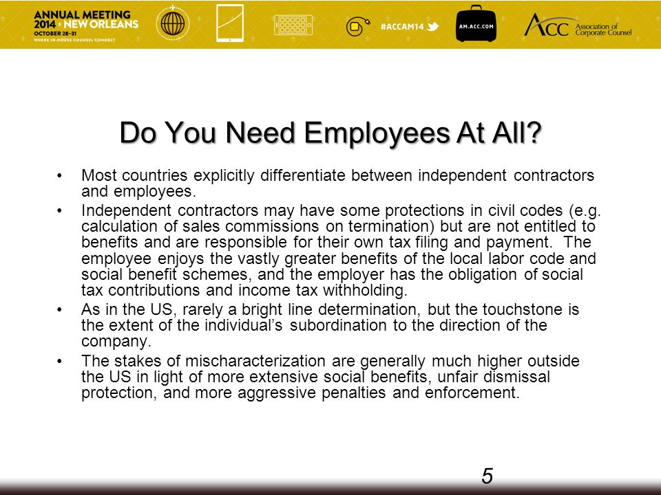 Do You Need Employees At All.