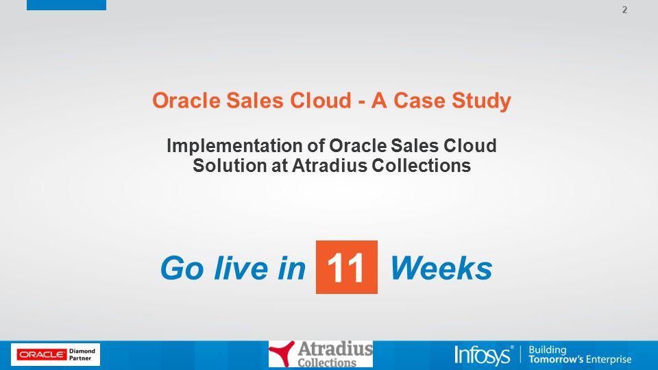 Oracle Sales Cloud - A Case Study Implementation of Oracle Sales Cloud Solution at Atradius Collections 2 Go live in Weeks
