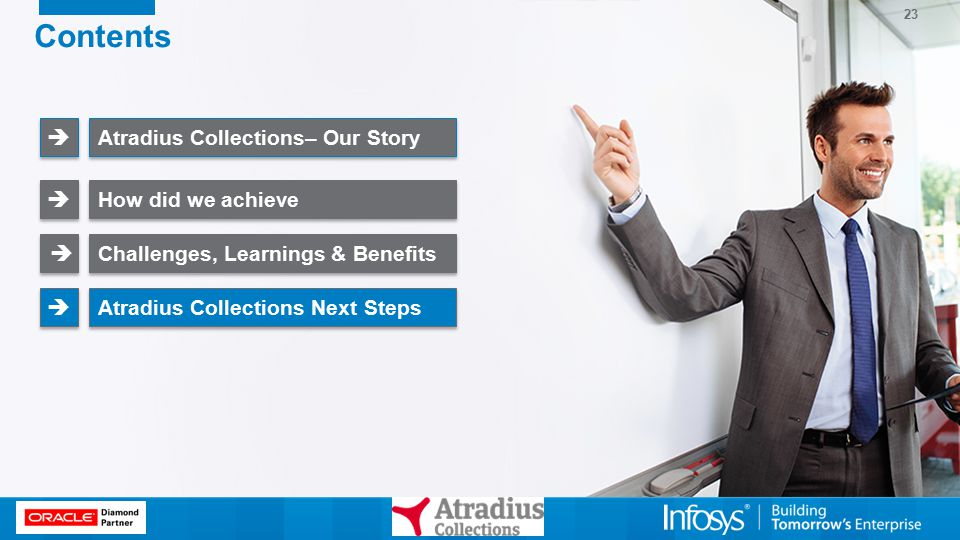 23 Contents Atradius Collections– Our Story   How did we achieve   Challenges, Learnings & Benefits   Atradius Collections Next Steps  