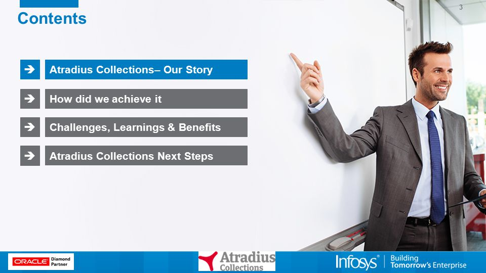 3 Contents Atradius Collections– Our Story  How did we achieve it  Challenges, Learnings & Benefits  Atradius Collections Next Steps 