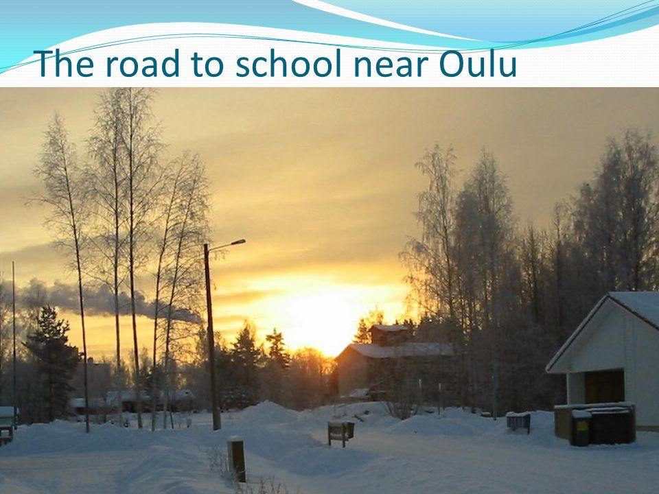 The road to school near Oulu
