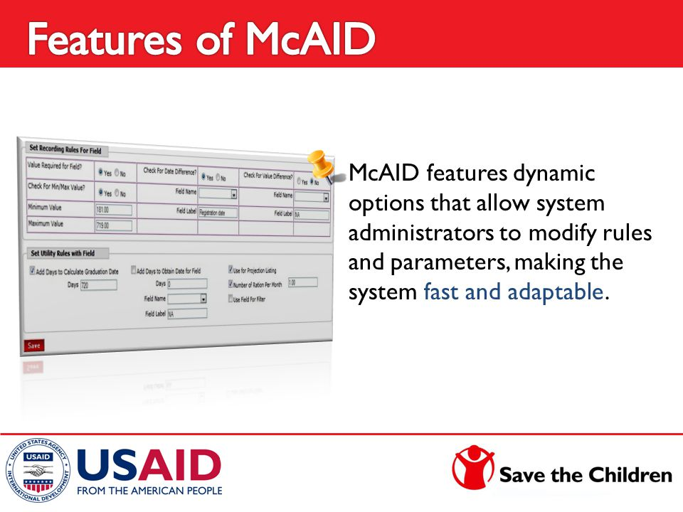 McAID features dynamic options that allow system administrators to modify rules and parameters, making the system fast and adaptable.