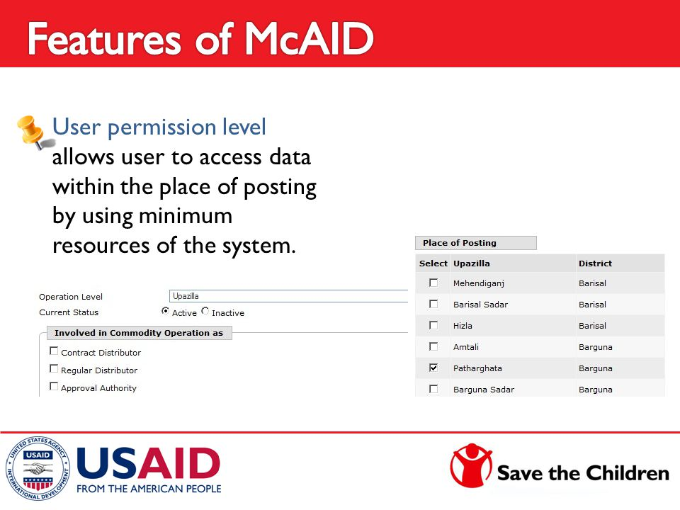 User permission level allows user to access data within the place of posting by using minimum resources of the system.