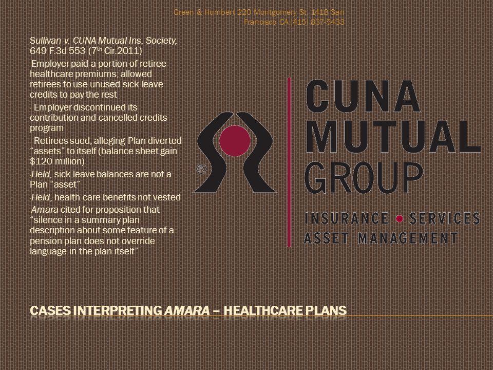 Sullivan v.CUNA Mutual Ins.