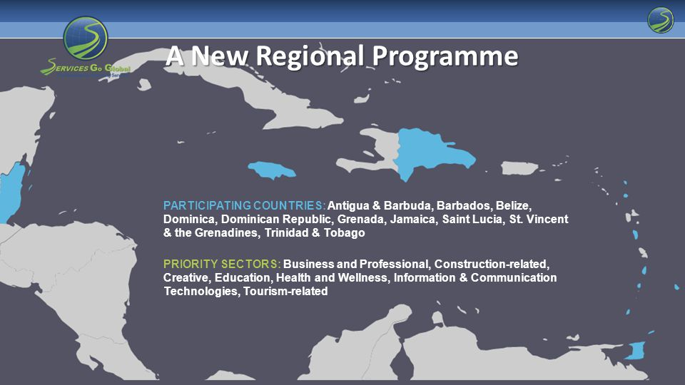 PARTICIPATING COUNTRIES: Antigua & Barbuda, Barbados, Belize, Dominica, Dominican Republic, Grenada, Jamaica, Saint Lucia, St.