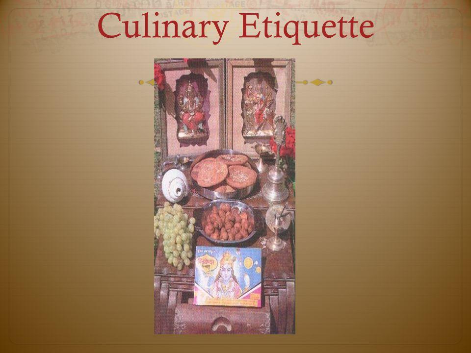 Culinary Etiquette
