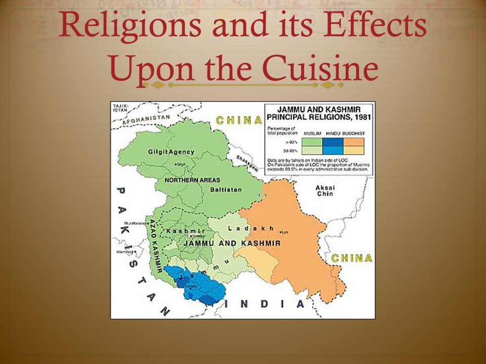Religions and its Effects Upon the Cuisine
