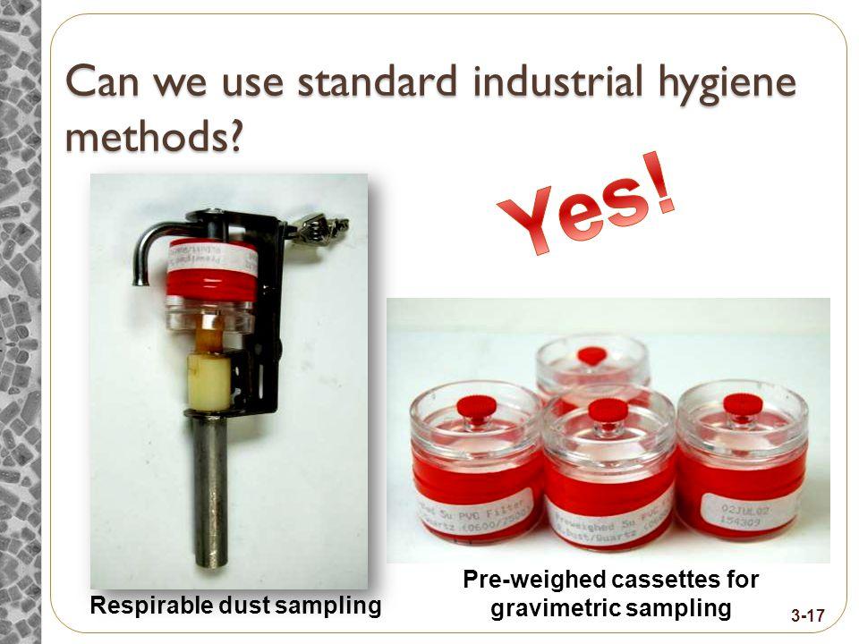 Can we use standard industrial hygiene methods.