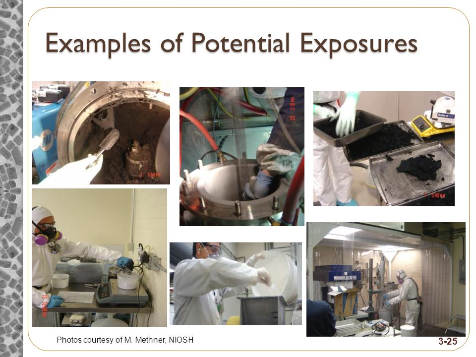 Examples of Potential Exposures Photos courtesy of M. Methner, NIOSH 3-25