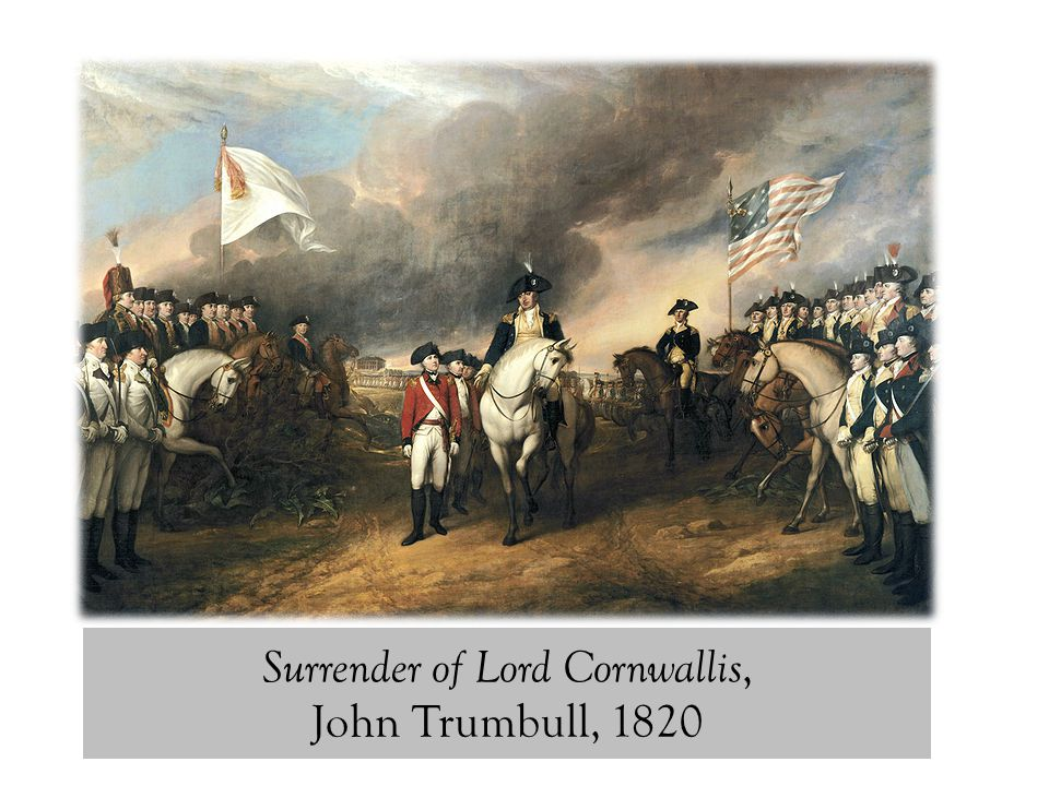 Surrender of Lord Cornwallis, John Trumbull, 1820