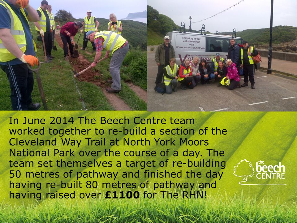 In June 2014 The Beech Centre team worked together to re-build a section of the Cleveland Way Trail at North York Moors National Park over the course