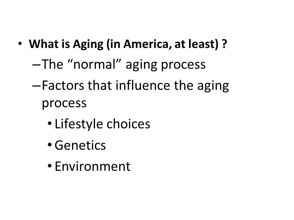 What is Aging (in America, at least) .