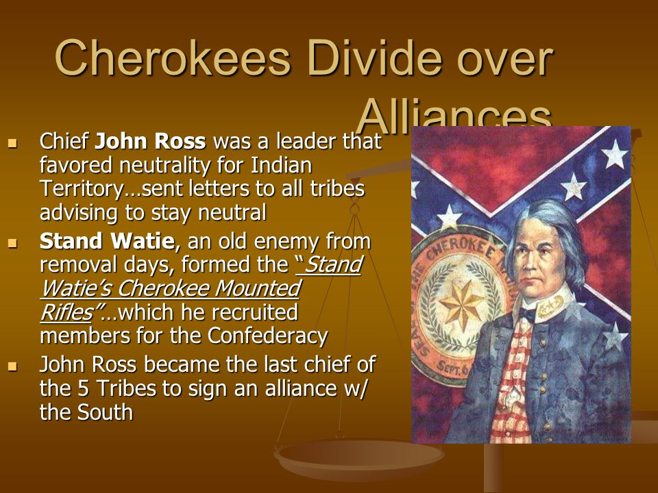 Alliances con't… Choctaws were almost in total agreement w/south...