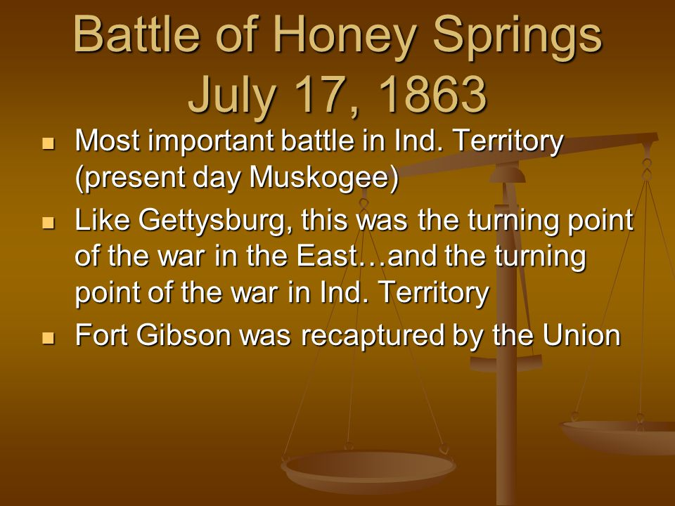 End of War in Indian Territory July 12, 1862, the Union army surrounded Tahlequah capturing John Ross...
