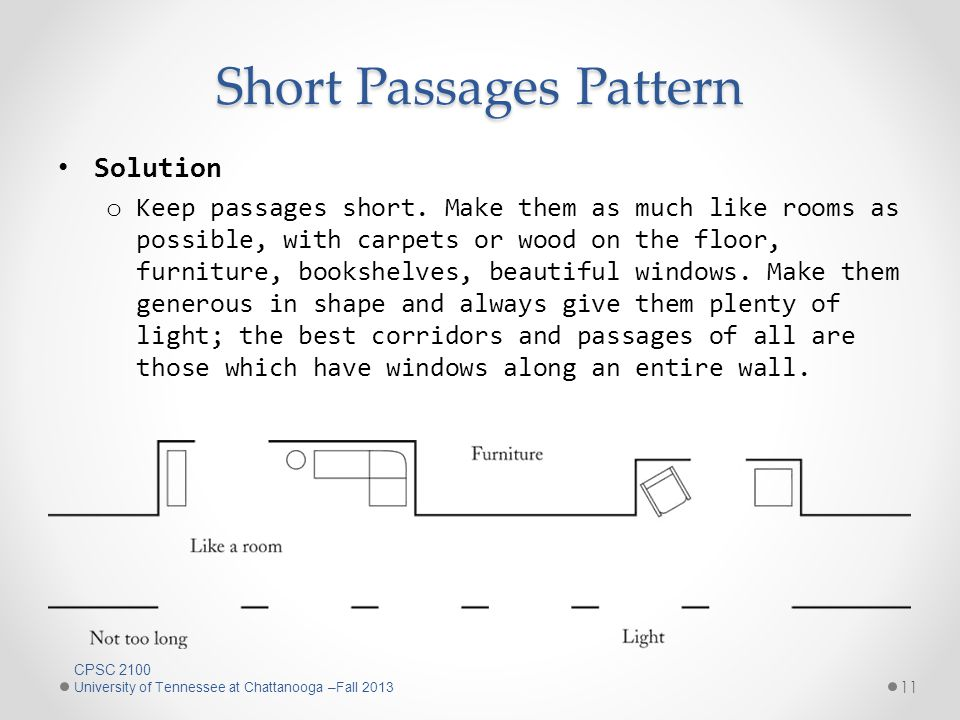 Short Passages Pattern 11 Solution o Keep passages short.