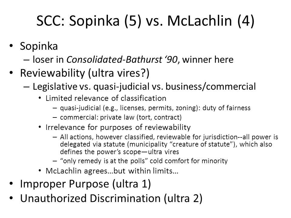SCC: Sopinka (5) vs.