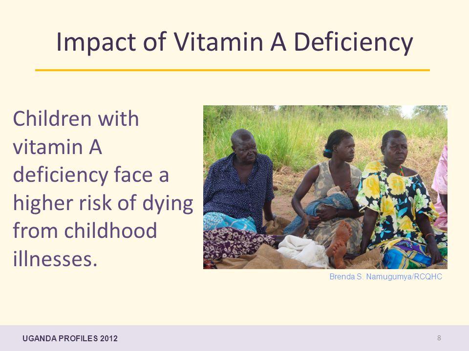 Impact of Vitamin A Deficiency Children with vitamin A deficiency face a higher risk of dying from childhood illnesses. Brenda S. Namugumya/RCQHC UGAN