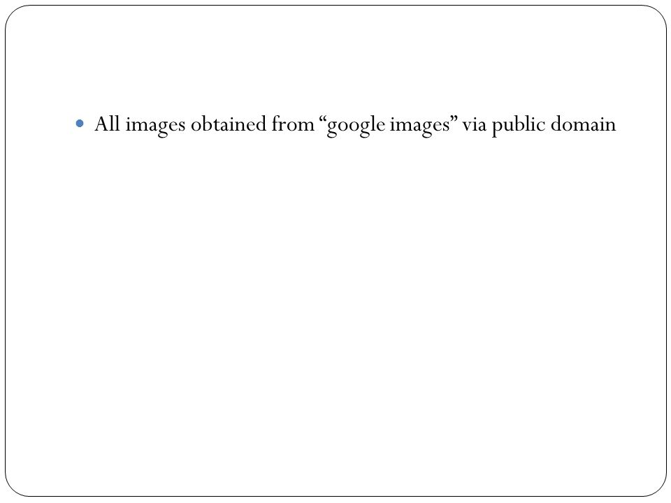 """All images obtained from """"google images"""" via public domain"""