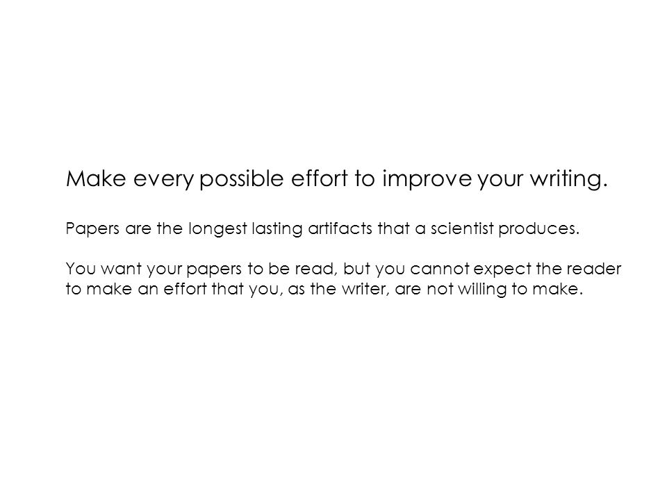 Peyton-Jones: How to write a great research paper The Conclusion Don't just summarize – add something new.