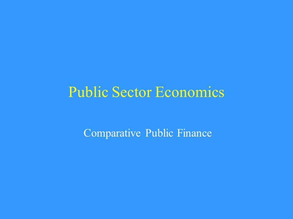 Public Sector Economics Comparative Public Finance