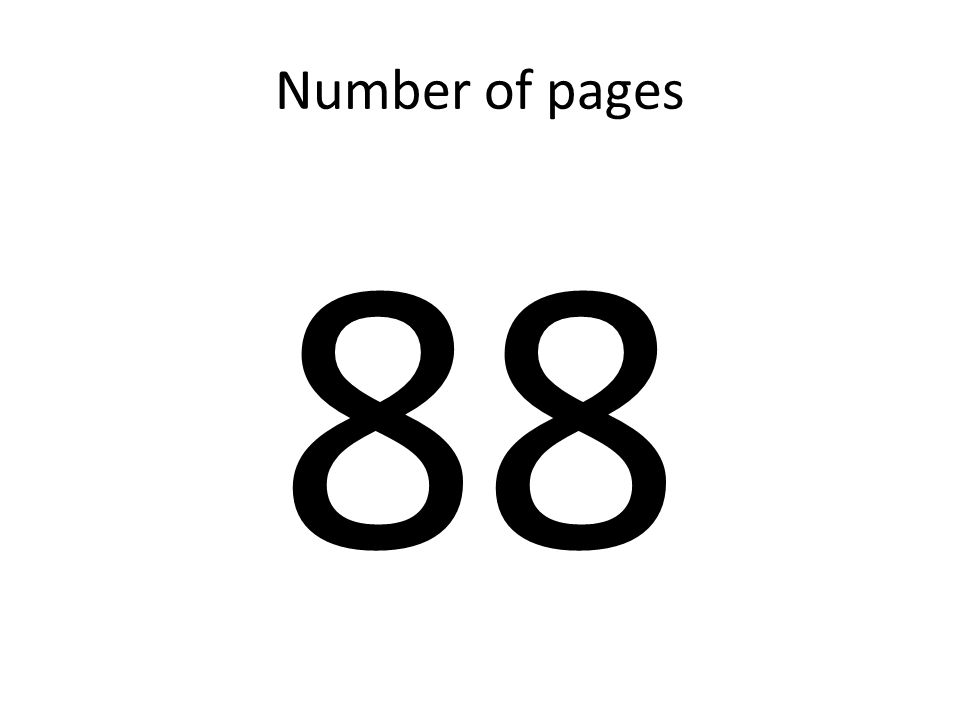 Number of pages 88