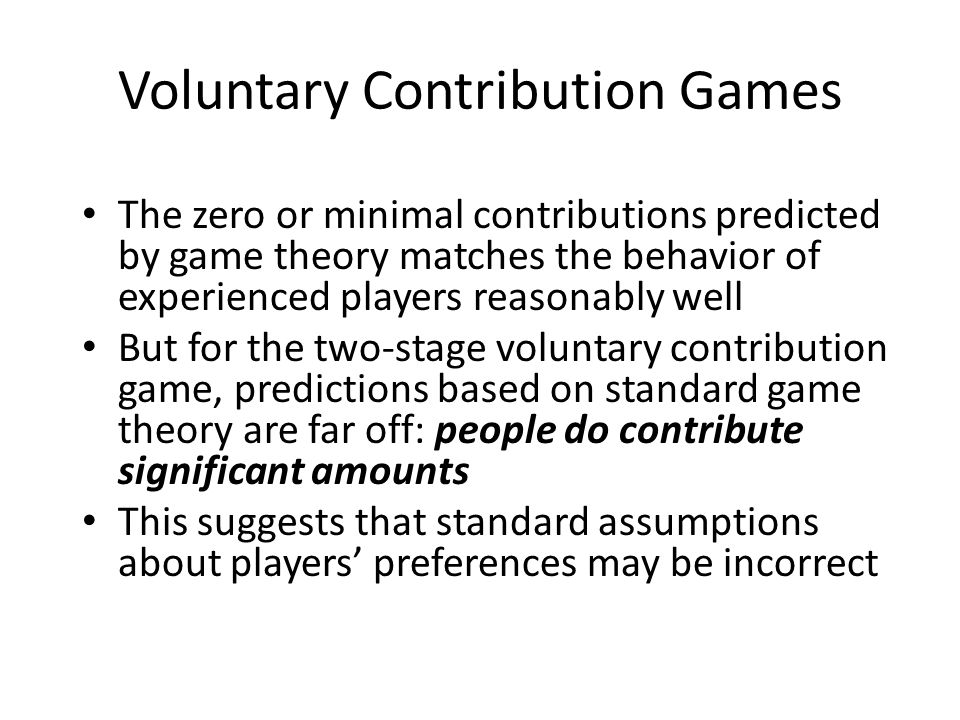 Importance of Social Motives: The Dictator Game In the dictator game: – The 'dictator' divides a fixed prize between himself and the 'recipient' – The recipient has a passive role – Usually there's no direct contact or communication between players during the game A self-interested dictator would take everything