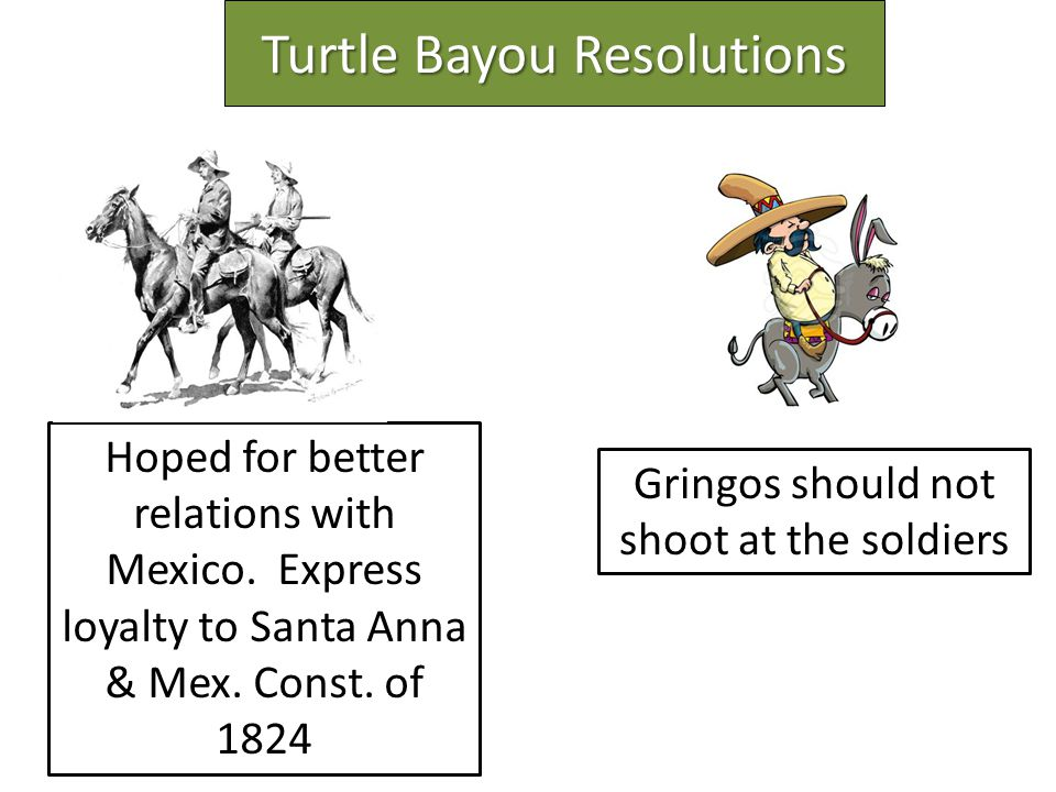 Turtle Bayou Resolutions Hoped for better relations with Mexico.