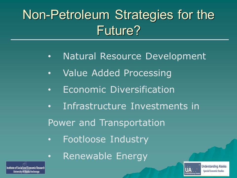 Non-Petroleum Strategies for the Future.