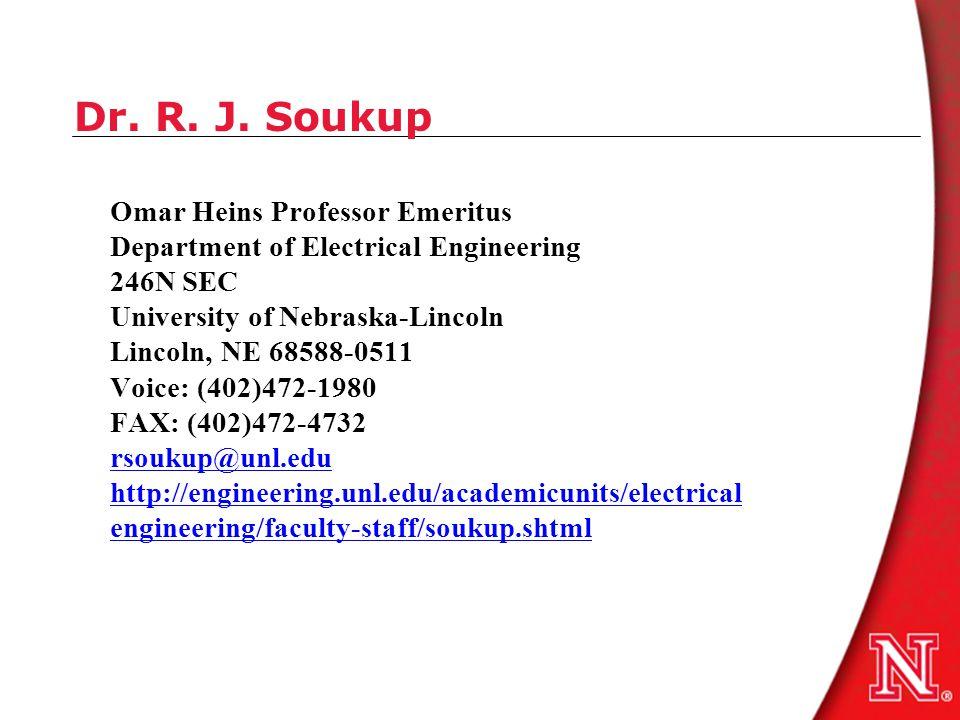 Dr. R. J.
