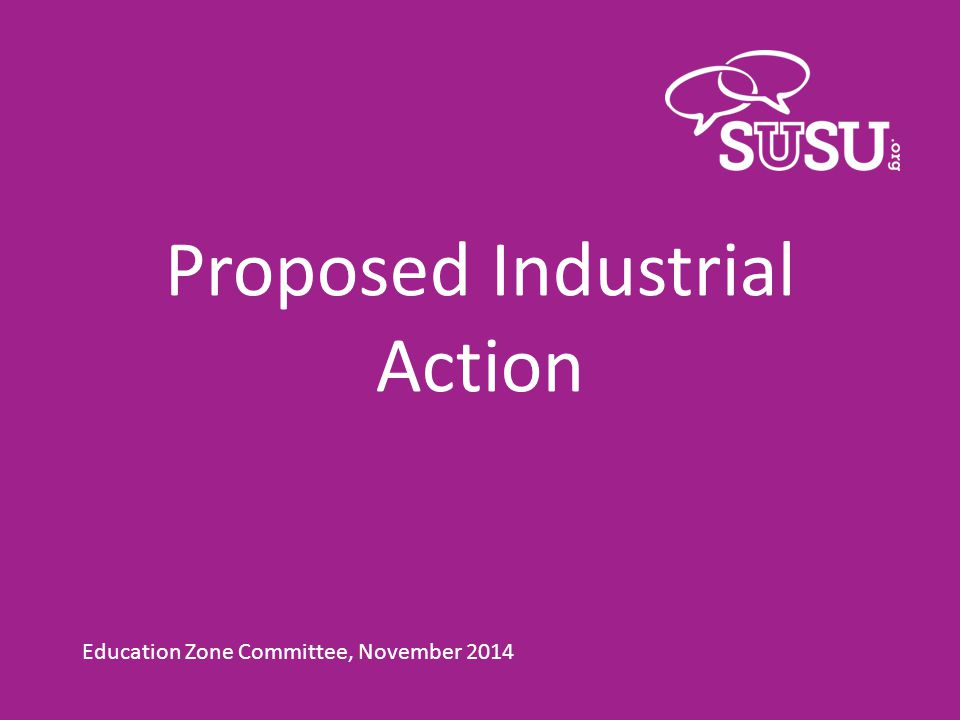 Proposed Industrial Action Education Zone Committee, November 2014