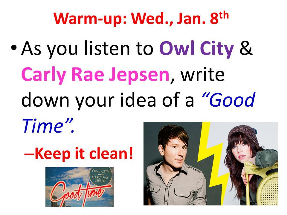 Warm-up: Wed., Jan.