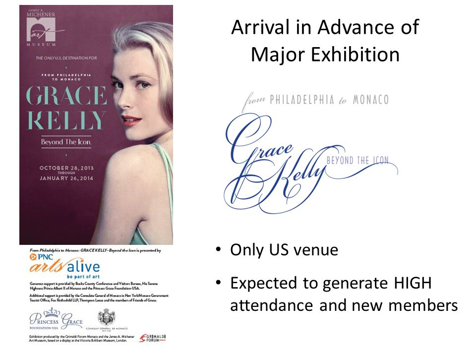 Arrival in Advance of Major Exhibition Only US venue Expected to generate HIGH attendance and new members