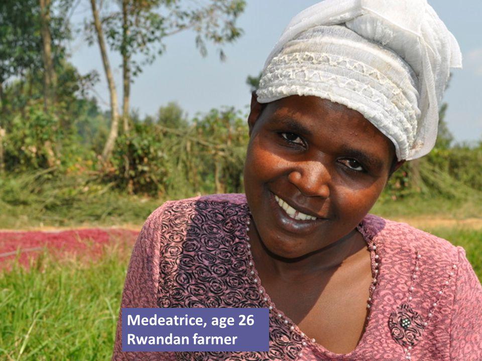 Medeatrice, age 26 Rwandan farmer