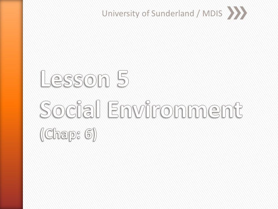 University of Sunderland / MDIS