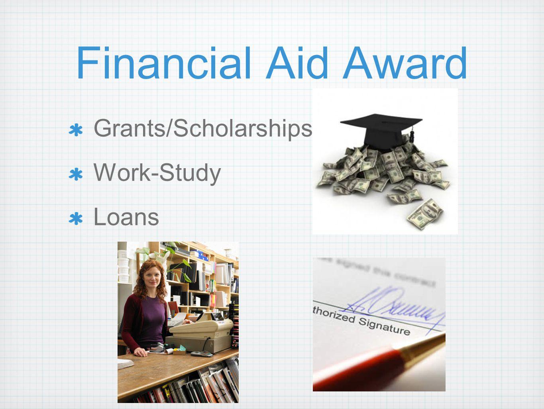 Financial Aid Award Grants/Scholarships Work-Study Loans