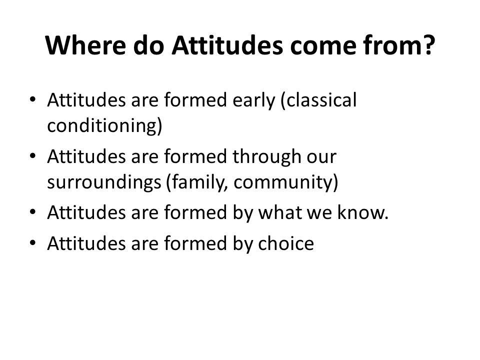 Attitudes can change.