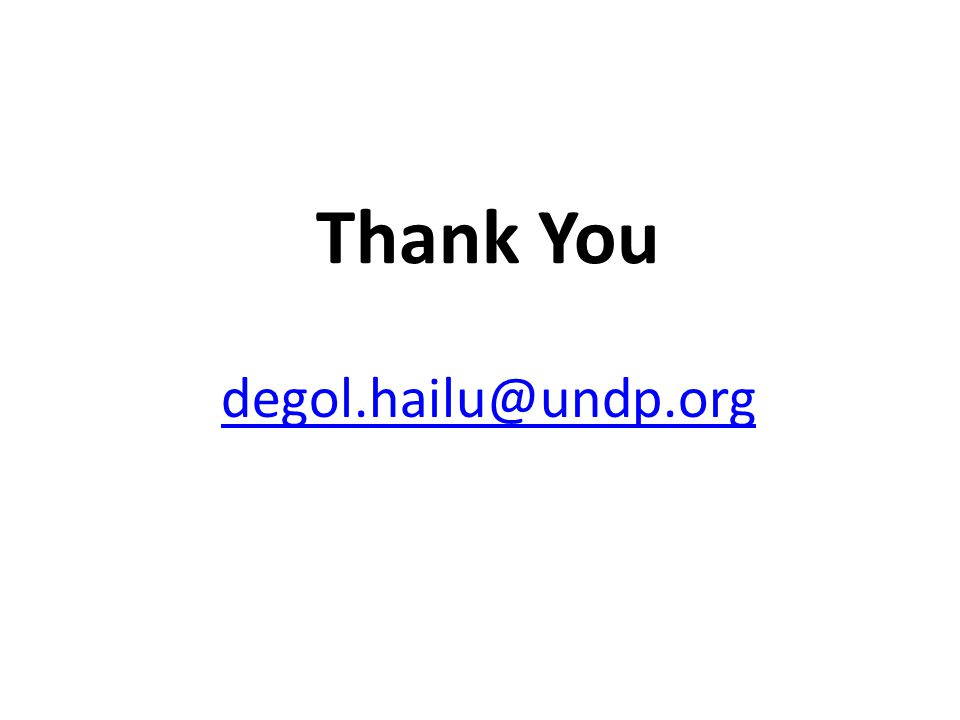 Thank You degol.hailu@undp.org