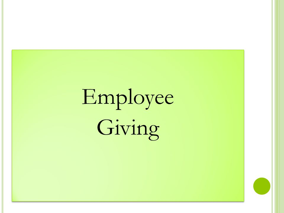 Employee Giving Employee Giving