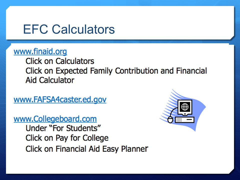 EFC Calculators