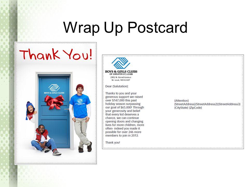Wrap Up Postcard