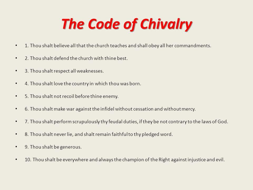 The Code of Chivalry 1.